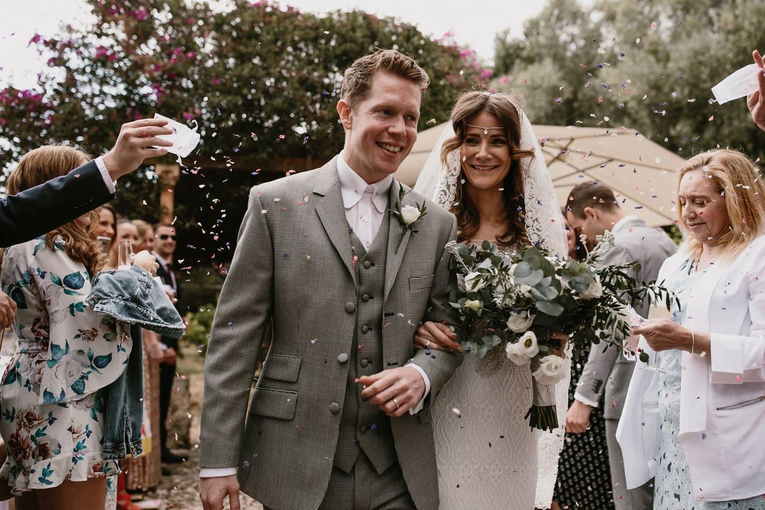 wedding confetti, wedding celebrations