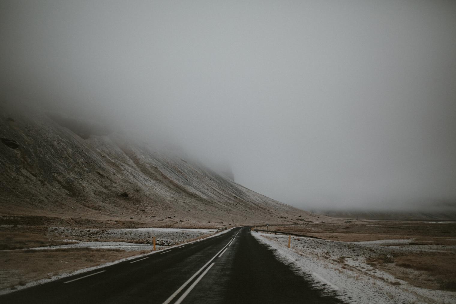 winter roads iceland