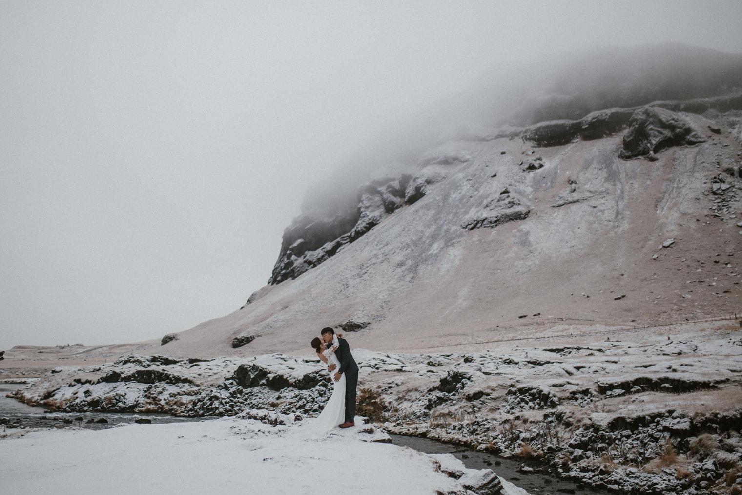 winter iceland wedding
