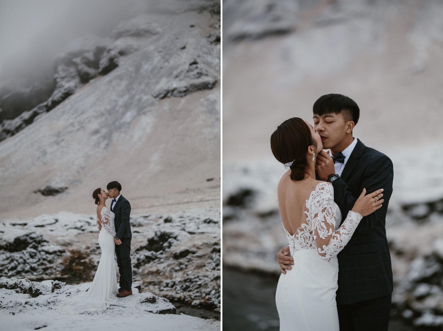 winter wedding iceland