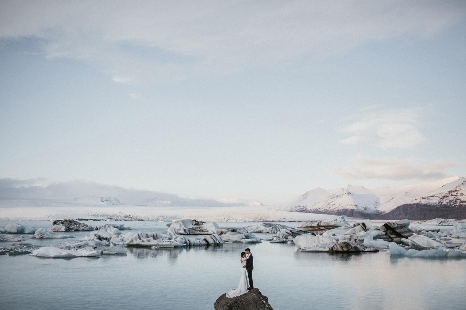 glacier lagoon wedding iceland