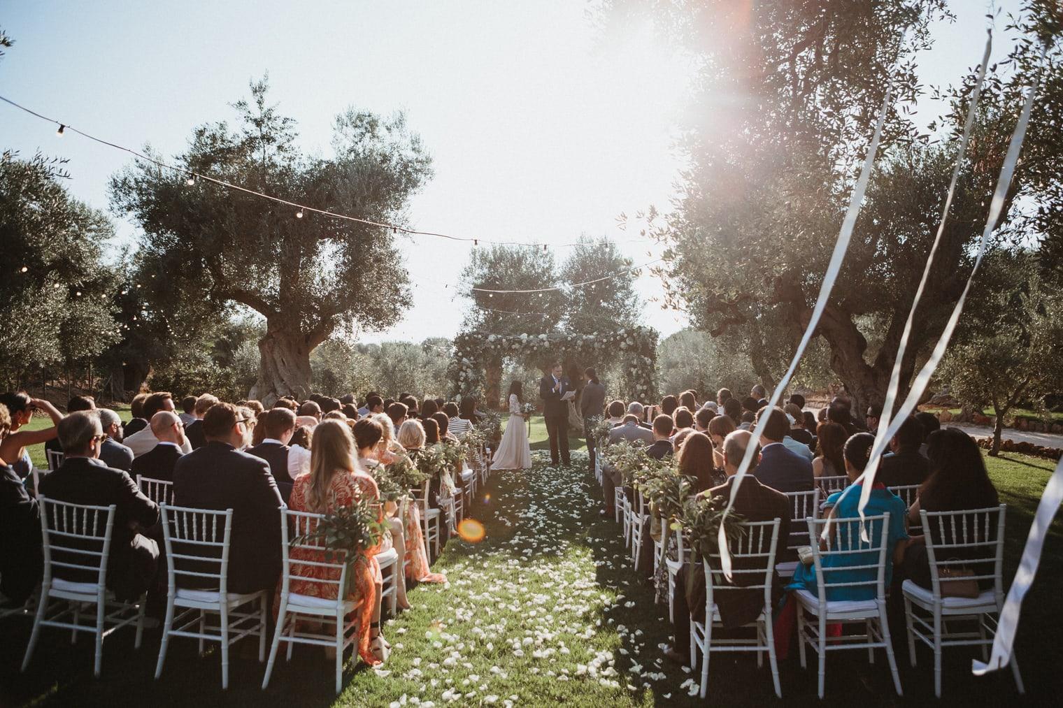 Masseria Torre Coccaro wedding ceremony in Italy