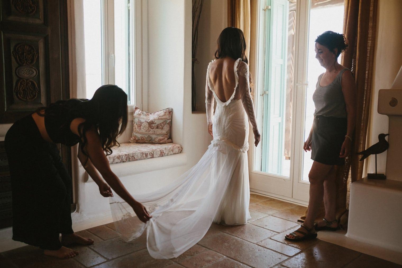 Rue De Siene Wedding Dress, Greece wedding