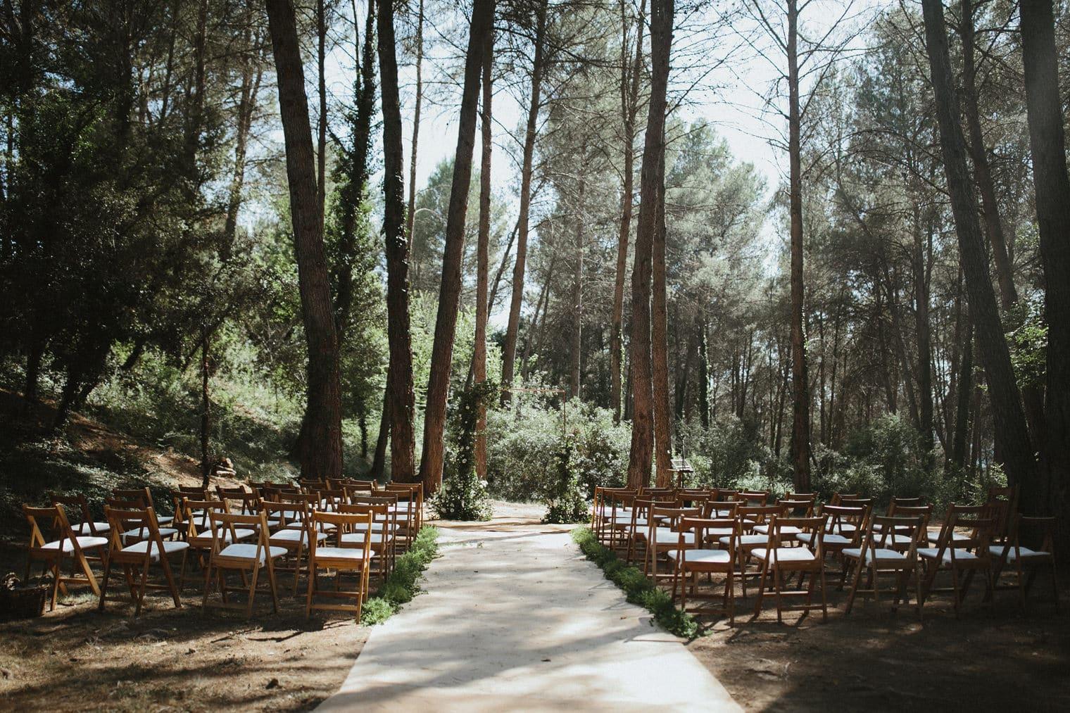 la garriga de castelladral outdoor ceremony location in the forest