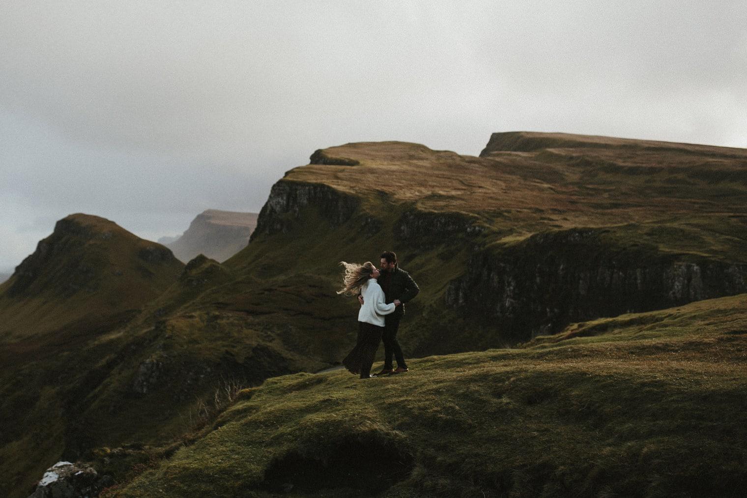 Adventurous Couple having anniversary shoot