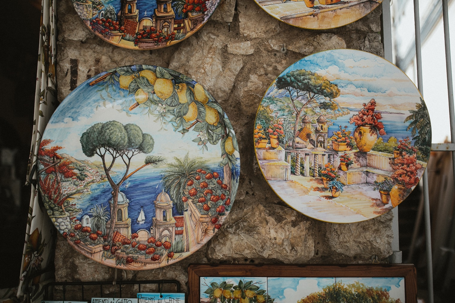 Artwork in the streets of Ravello