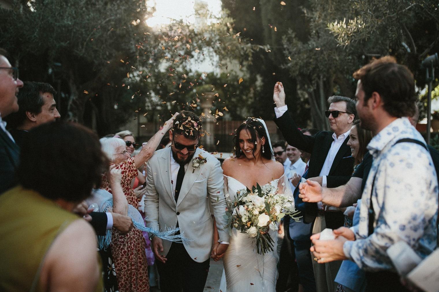 Confetti Reception for Amalfi Coast Wedding in Ravello at Villa Eva