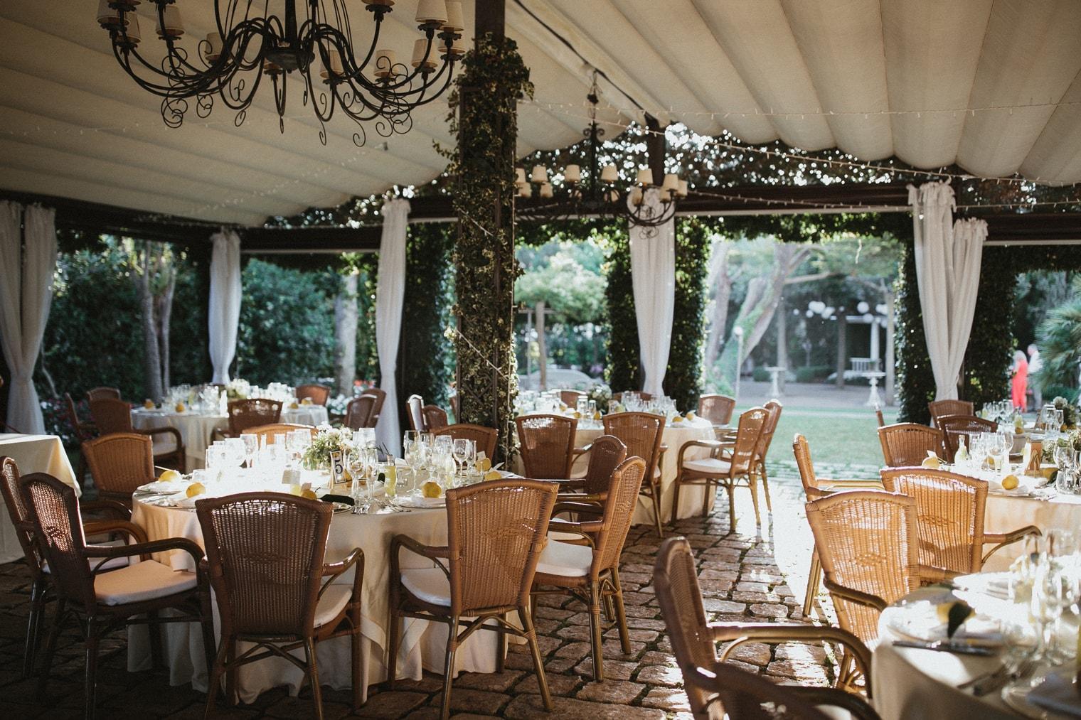 Wedding decor at Villa Eva, Ravello, Italy