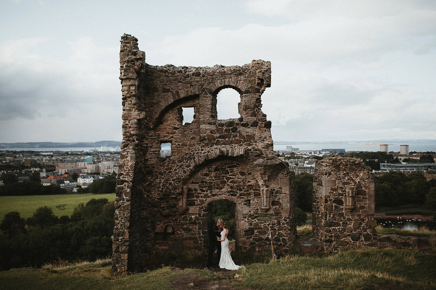 Elopement at St. Anthony's Chapel Ruins in Edinburgh