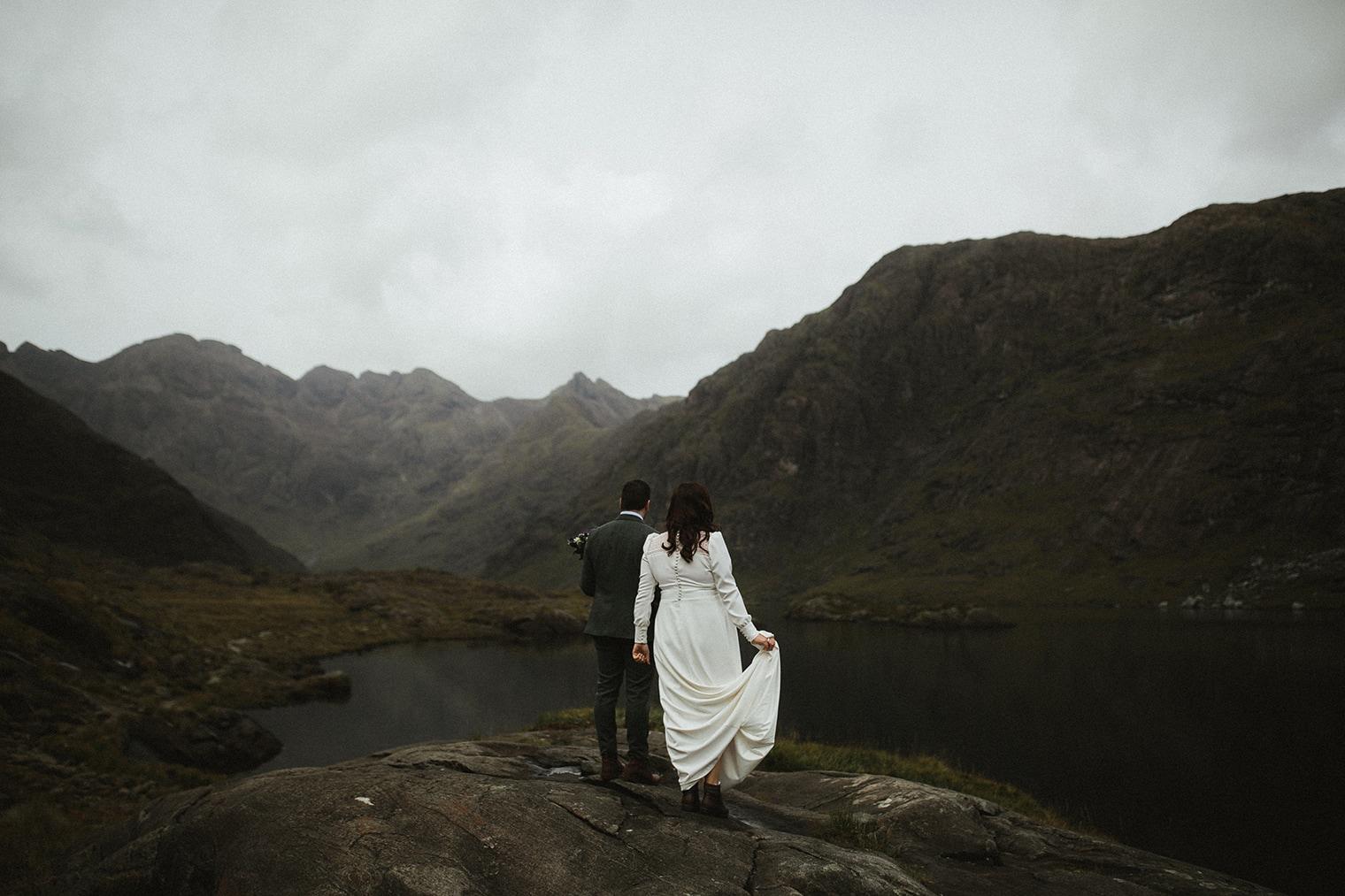 Bride and Groom at Loch Coruisk