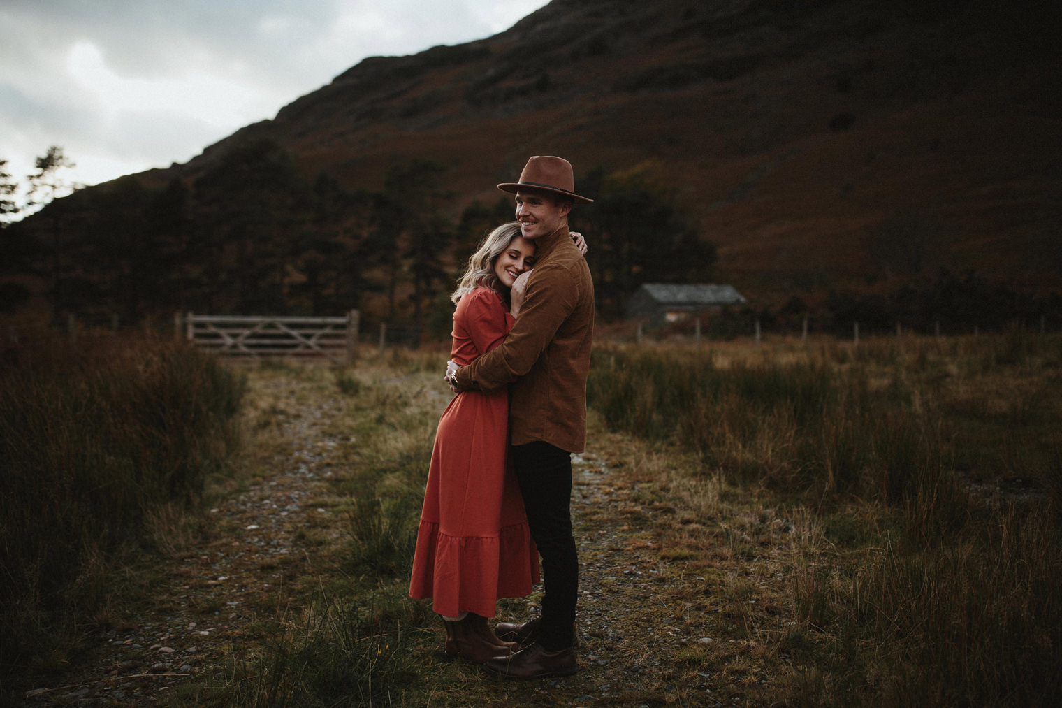 couple holding each other during their Couples Portrait Session in the Lake District