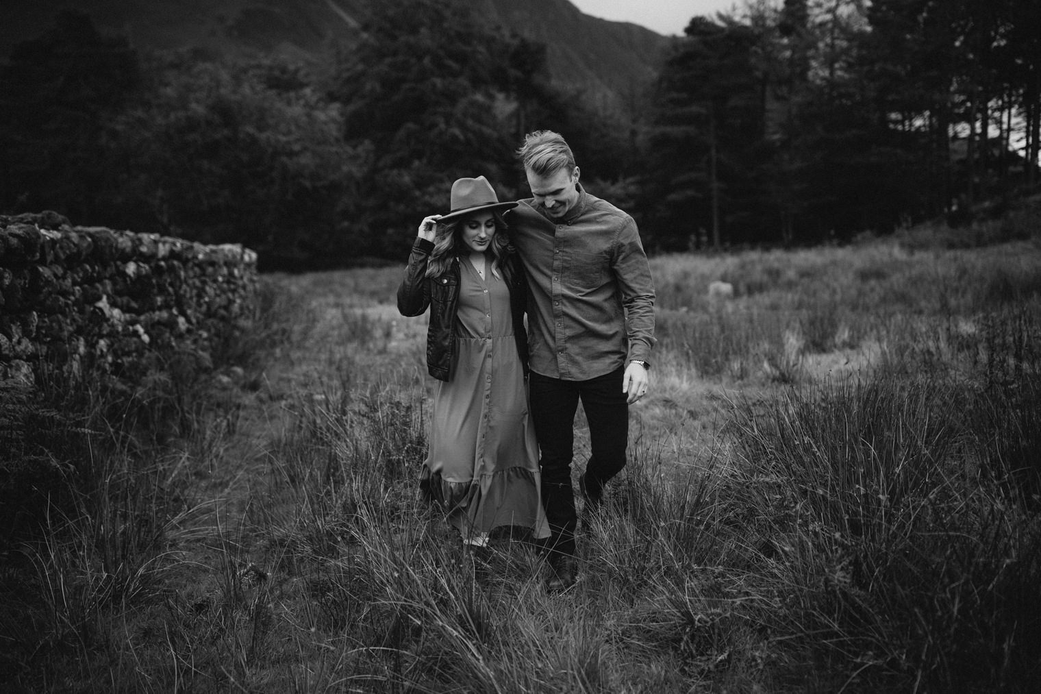 Couple walking together in Lake District