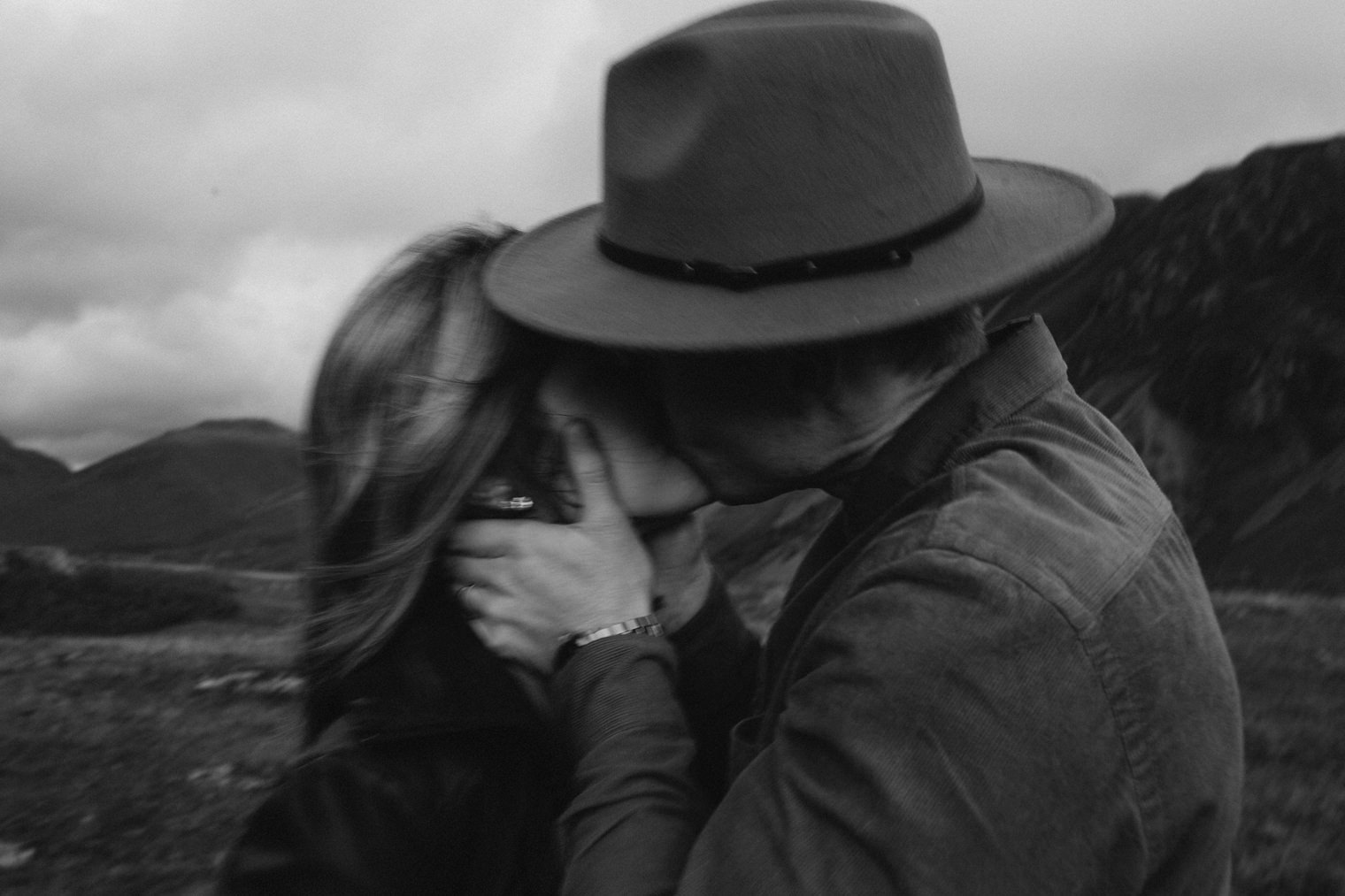 cinematic lake district engagement session